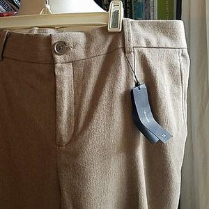 Beige Banana Republic herringbone trousers